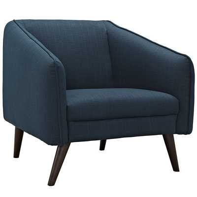 SLIDE UPHOLSTERED FABRIC ARMCHAIR IN AZURE - Modway Furniture