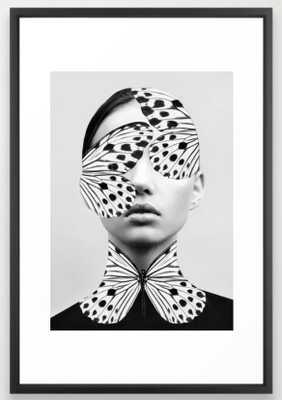 Woman Butterfly Framed Art Print, 26x38 - Society6