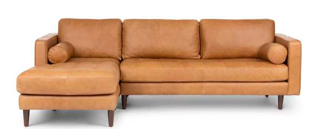 Sven Charme Tan Left Sectional Sofa - Article