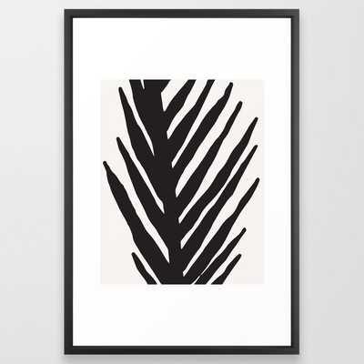 Modernist Abstract Series 1 of 4 Framed Art Print // 26x38 // Vector Black frame - Society6