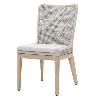 WINNETKA INDOOR/OUTDOOR DINING CHAIR, WHITE TAUPE (SET OF 2) - Lulu and Georgia
