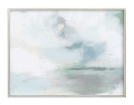 "Monday Blues - 40 x 30"" - Champagne Silver Frame- Standard - Minted"