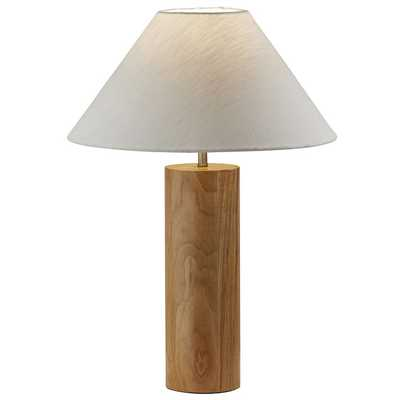 Modern Wood Column Table Lamp / Natural Oak Wood - West Elm