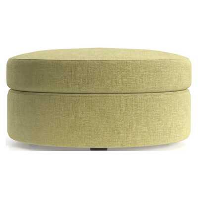 Infiniti Oval Storage Ottoman - Hansel Honey - Crate and Barrel