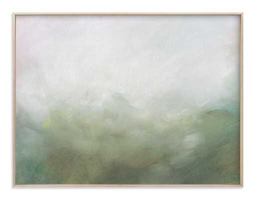 """Morning Mist- 54""""x40""""- Matte Brass Frame - Standard - Minted"""