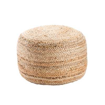 BRAIDED JUTE POUF - ROUND - Shades of Light