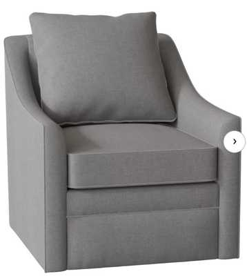 Quincy Swivel Armchair, Sunbrella Cast Slate - Wayfair