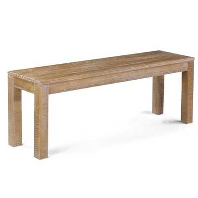 Montauk Wood Bench - Wayfair