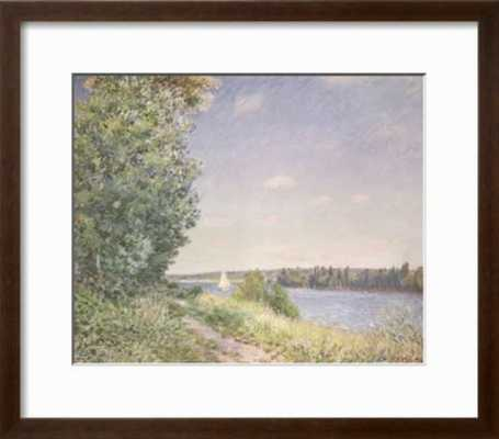 Normandy, the Water Path in the Evening, Sahurs, 1894 - art.com