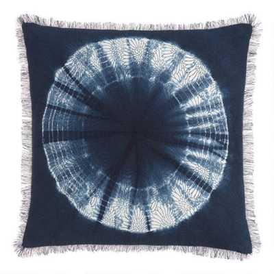 Indigo Blue Shibori Sunburst Throw Pillow - World Market/Cost Plus