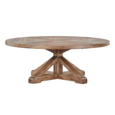 Alpena Pedestal Coffee Table - Wayfair