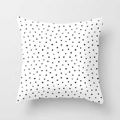 Polka Dots in Love Throw Pillow with pillow insert - Society6
