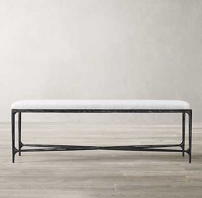 THADDEUS FABRIC END-OF-BED BENCH - RH