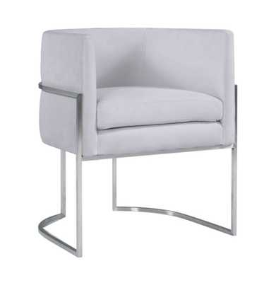 Mikayla Morgan Velvet Dining Chair with Silver Leg - Maren Home