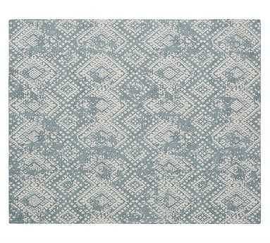 Zahara Synthetic Rug, Blue, 8 x 10' - Pottery Barn
