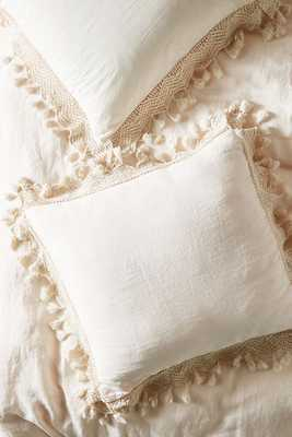 Tasseled Linen Euro Sham - Anthropologie