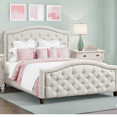 Prieto Tufted Camelback Upholstered Platform Bed - Wayfair