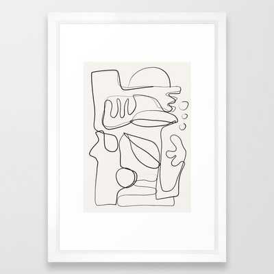 Abstract line art 10 Art Print - Society6