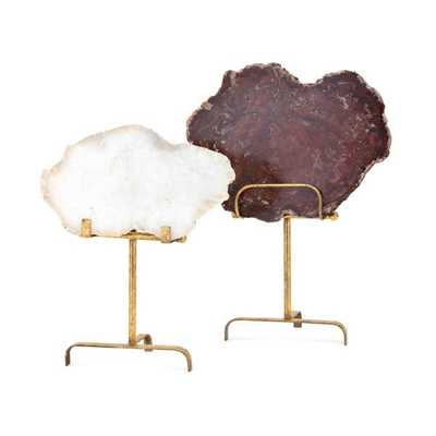TY Canyon Agate Statuaries - Set of 2 - Mercer Collection