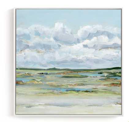 "Of the Prairies  canvas white frame 30"" x 30"" - Minted"