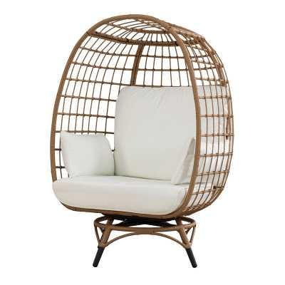 Wellow Baytree Egg Swivel Patio Chair with Cushions - Wayfair