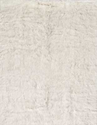 Ashleigh Faux Fur Ivory/Grey Area Rug - Wayfair