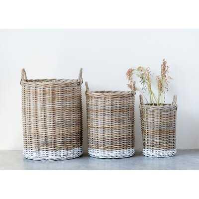 3 Pieces Wicker Basket Set - Wayfair