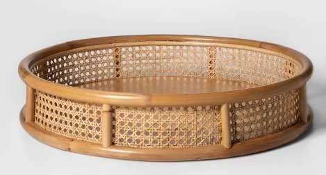 "20"" x 4"" Decorative Rattan Cane Tray Brown - Project 62 - Target"