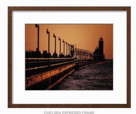 Grand Haven Lighthouse at sunset, Grand Haven, Michigan, USA - art.com