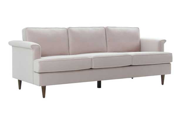 Leia Blush Velvet Sofa - Maren Home