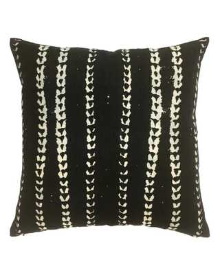 VINES PILLOW IN BLACK - with insert - PillowPia