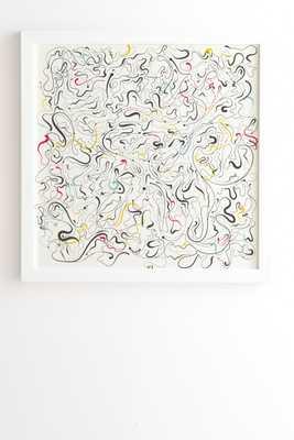 LINE DANCE white Framed Wall Art 30x30 - Wander Print Co.