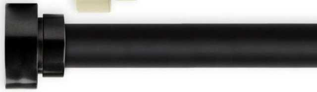 Bonnet 48 in. - 84 in. Single Curtain Rod in Black - Home Depot