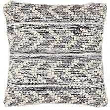 HOBNAIL HERRINGBONE BLACK INDOOR/OUTDOOR DECORATIVE PILLOW - Dash and Albert