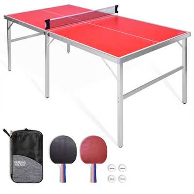 Foldable Indoor/Outdoor Table Tennis Table with Paddles and Balls (64mm Thick) - Perigold