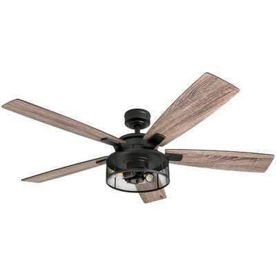 "52"" Divisadero 5 Blades Ceiling Fan Light Kit Included - Wayfair"