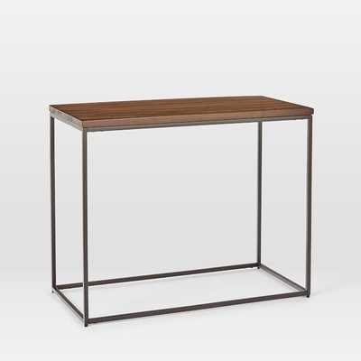 Streamline Side Table, Dark Walnut, Light Bronze - West Elm