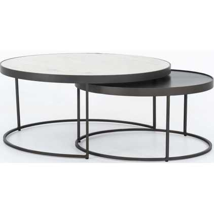 Evelyn Round Nesting Coffee Table - High Fashion Home