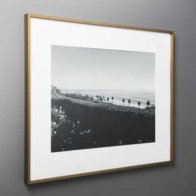 Gallery Brass Frame with White Mat 18x24 - CB2
