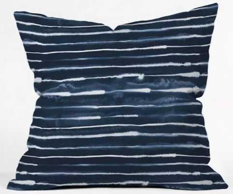 Ninola Design Stripes Square Throw Pillow Blue - Target