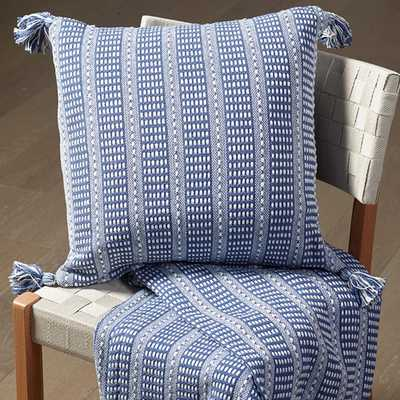 blue/Cream 18 in. x 18 in. Decorative Pillow - Home Depot