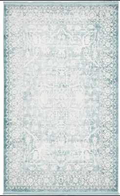 Omri Oriental Light Blue Area Rug - Wayfair