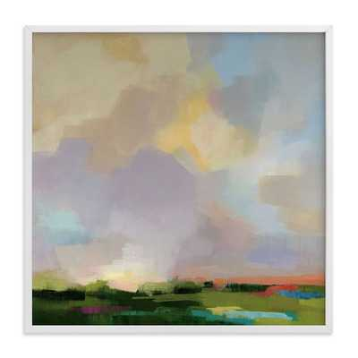 """Minted for west elm, After The Storm, 30""""x30"""" White Wood Frame - West Elm"""