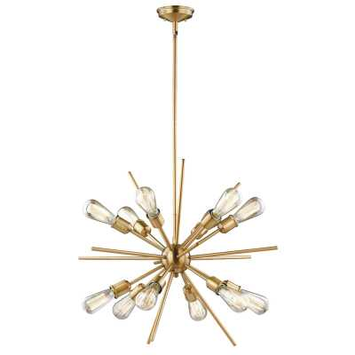 Corona 12 - Light Sputnik Modern Linear Chandelier - Wayfair