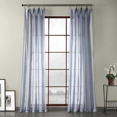 Kuhns Polyester Striped Sheer Rod Pocket Single Curtain Panel - Wayfair