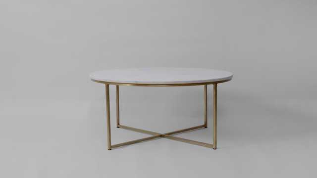 Coraline Marble and Brass Coffee Table - Wayfair