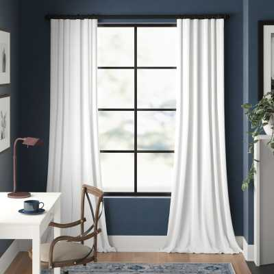 Clem Solid Blackout Rod Pocket Single Curtain Panel - Wayfair