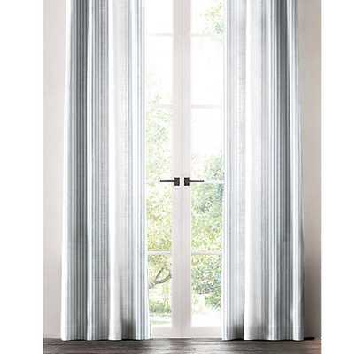 INDIGO THIN STRIPED WINDOW PANEL - Linen & Seam