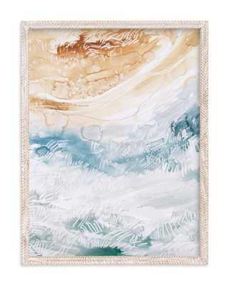 """Sediment No 1 Art Print, 18 x 24, Whitewashed herringbone .75"""" Art Print Frame - Minted"""