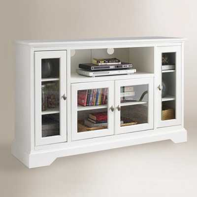 Antique White Wood Rochester Media Stand by World Market - World Market/Cost Plus